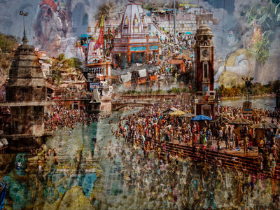 Holy India by Ralf Kayser Glass Print - UH