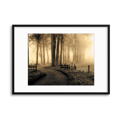 Road to Nowhere... by Petra Oldeman Framed Print - USTAD HOME