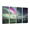 Aurora Lake by Liloni Luca Glass Print - UH