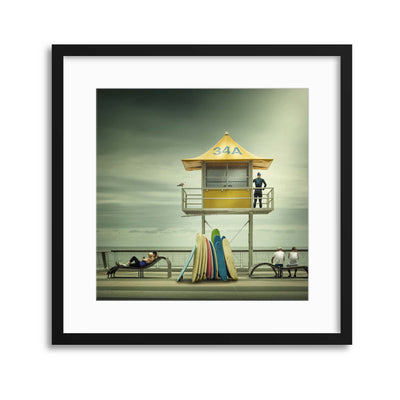 The Life Guard by Adrian Donoghue Framed Print - UH