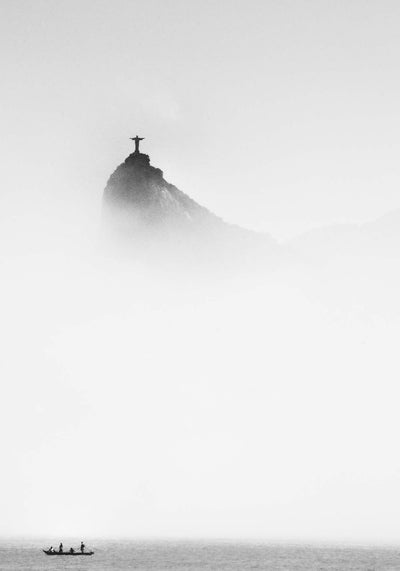 Cristo in the Mist by Trevor Cole Framed Print - UH