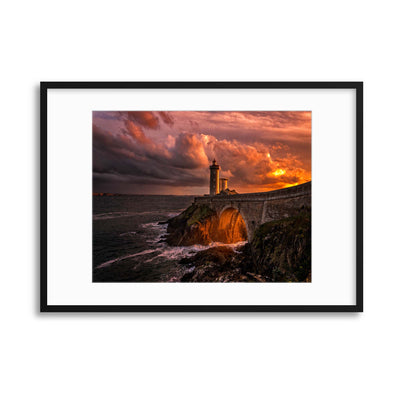 Sun is Down by Denis Framed Print - USTAD HOME