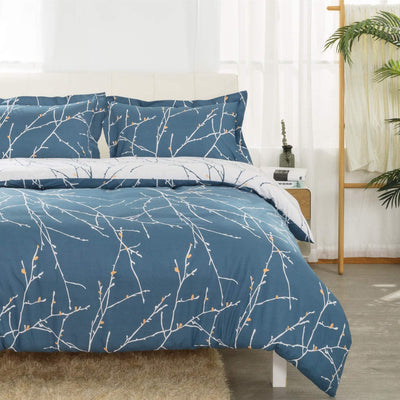 Duvet Cover Set Branch Pattern - UH