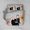 Personalized Faceless Illustration Photo Design Baby Couple Family Pink 3-Piece Bedding Set - UH
