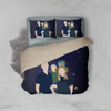 Personalized Faceless Illustration Photo Design Baby Couple Family Galaxy 3-Piece Bedding Set - UH