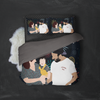 Personalized Faceless Illustration Photo Design Baby Couple Family Love 3-Piece Bedding Set - UH