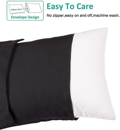Soft Microfiber Plain Pillowcases - UH
