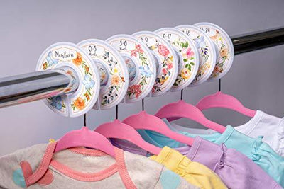 Baby Hangers and Floral Closet Dividers - UH