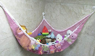 Toy Storage Hammock Holder Net Organiser with 6 Strong Hooks - UH