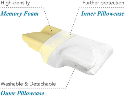 Memory Foam Ergonomic Pillow - UH