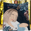 Personalized Faceless Illustration Photo Design Baby Mothers Love Blanket - UH