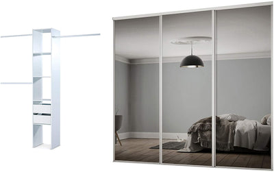 Sliding Wardrobe Doors Frame Mirror - USTAD HOME