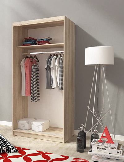 Sliding Doors Bedroom Small Mirrored Wardrobe - UH