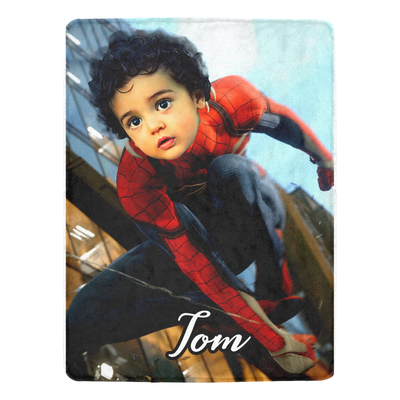 Personalised Spiderman Blanket - UH