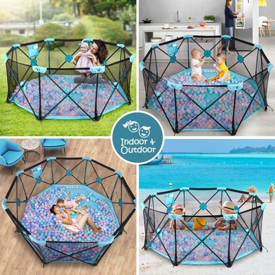 Baby Playpen 8 Panel Foldable and Portable Play - UH