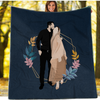 Personalized Faceless Illustration Photo Design Couple Love Blanket - UH