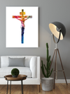 "Powerful ""Jesus Christ Cross"" White Canvas Print - USTAD HOME"