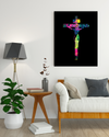"Powerful ""Jesus Christ Cross"" Black-1 Canvas Print - USTAD HOME"