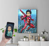 Personalised Ironman Canvas Print - UH