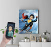 Personalised Superman Canvas Print - UH