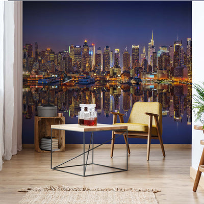 New York Reflections Wallpaper - USTAD HOME