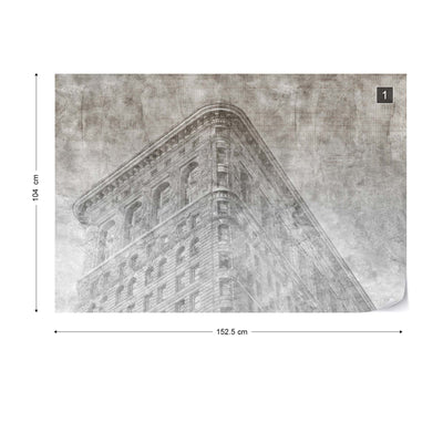 New York City Grunge II Mono Wallpaper - UH