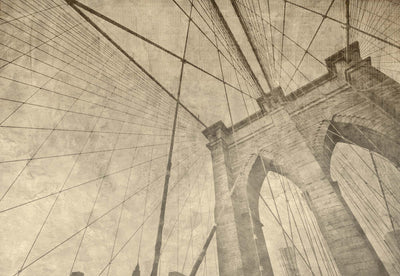 Brooklyn Bridge Grunge Sepia Wallpaper - USTAD HOME