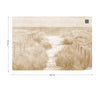 Let's go down to the Beach Faded Vintage Sepia Wallpaper - UH