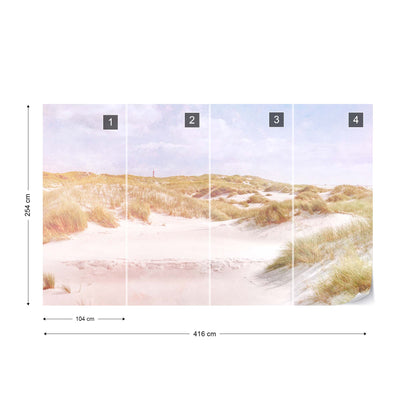 Dune Paradise Faded Vintage Wallpaper - USTAD HOME