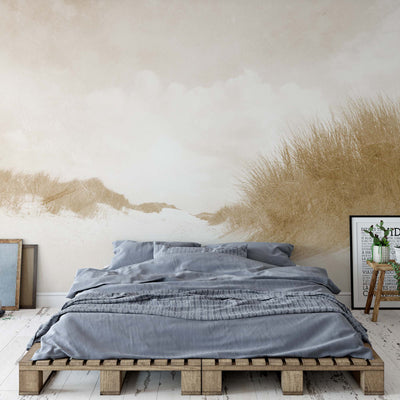 Sandy Days Faded Vintage in Sepia Wallpaper - UH