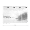 Sandy Days Faded Vintage in Black and White Wallpaper - UH