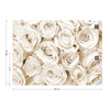 Rose Bouquet Sepia Wallpaper - USTAD HOME