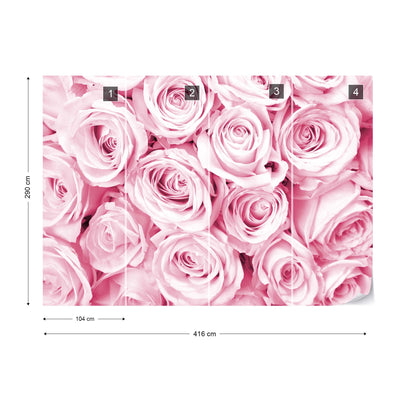 Rose Bouquet Pink Wallpaper - USTAD HOME