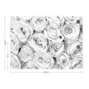 Rose Bouquet Black and White Wallpaper - USTAD HOME