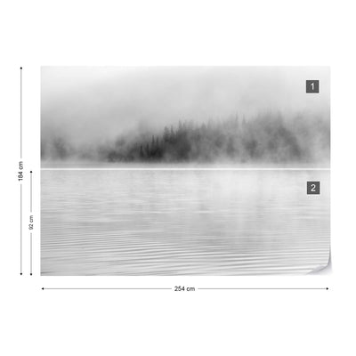 Mist on the Water in Black and White Wallpaper - UH