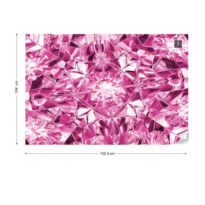 Facets of Luxury in Pink Wallpaper - UH