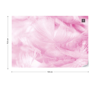 Feathers in Pink Wallpaper - UH
