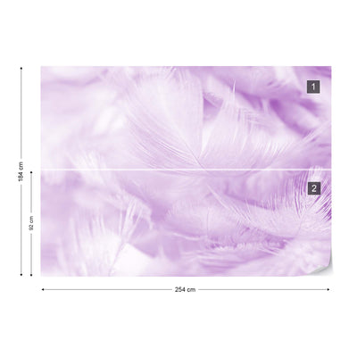 Feathers in Purple Wallpaper - USTAD HOME