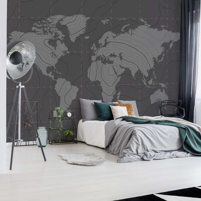 World Map Moderna Wallpaper - UH