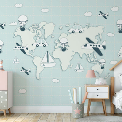 World Map Travel Wallpaper - USTAD HOME