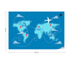 World Map Fly Wallpaper - UH
