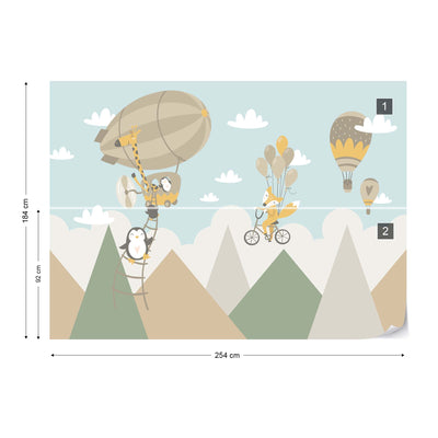 Mr Fox's Flying Contraption Wallpaper - USTAD HOME