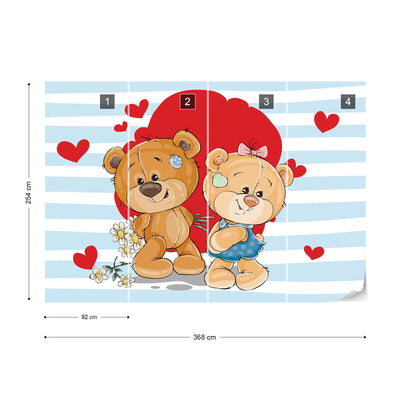 The Big Heart Bears: Bradley and Claudia Wallpaper - UH