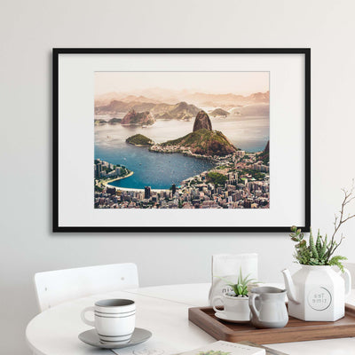 Sugarloaf Mountain in the Distance, Rio de Janiero Framed Print - UH