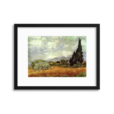 "Van Gogh, ""Wheat Field with Cypresses"" Framed Print - UH"