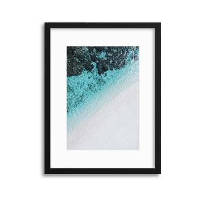 Coastal Colours from Above II Framed Print - UH