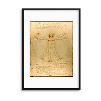 "Leonardo da Vinci, ""The Vitruvian Man"" Framed Print - UH"