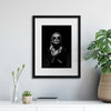 Portraits in Noir: Sunglasses Framed Print - USTAD HOME