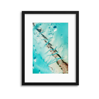 Turquoise Currents Framed Print - UH