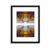 Glass Cross Framed Print - USTAD HOME